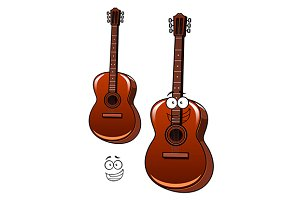 Classical acoustic guitar cartoon ch