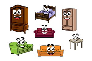 Happy furniture objects