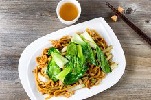 Spicy Noodle Dish with Green Tea