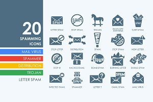 20 spamming icons