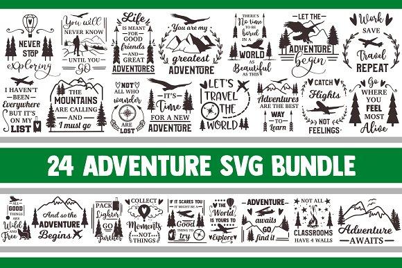 Adventure Svg Bundle Camping Vector Pre Designed Photoshop