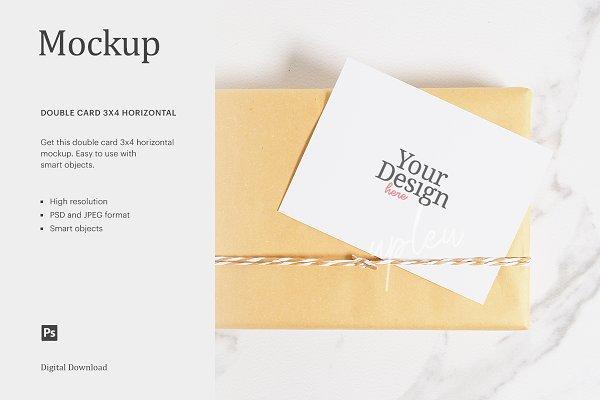 Get Blank Gift Card Mockup PNG