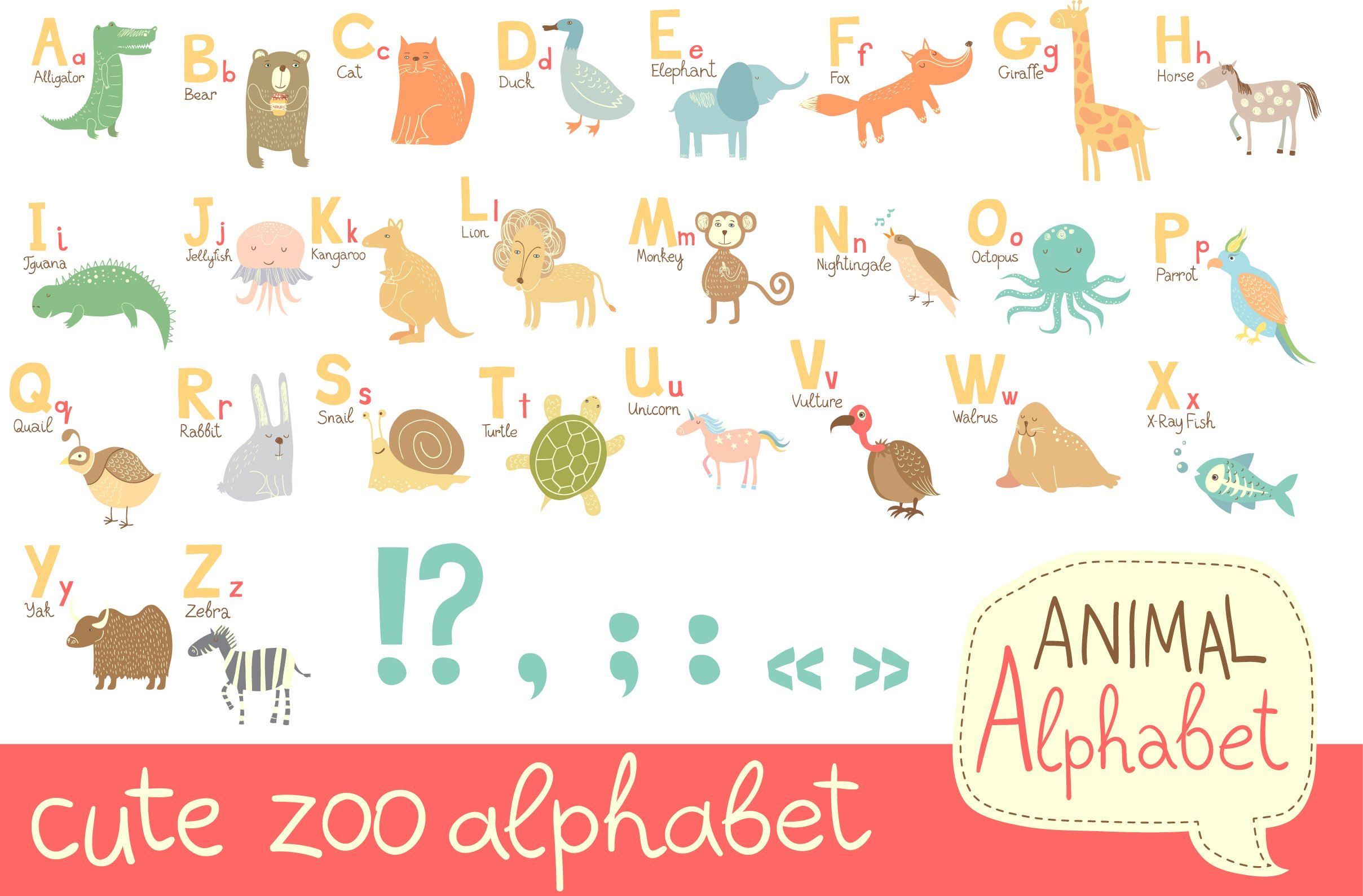 Alphabet for kids in eps10 and jpeg graphics creative market thecheapjerseys Gallery