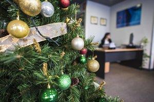 xmas tree at office
