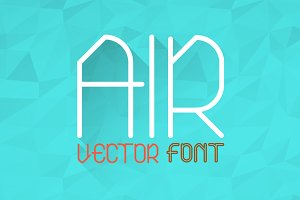 Air Typeface (Normal, Bold, Outline)