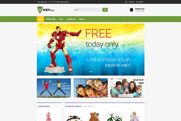 OpenCart Themes: bootstrapbrothers - Toy Store -  Premium Opencart Theme