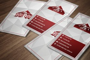 Red Tri - Premium Business Card
