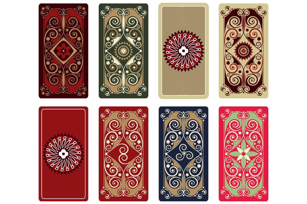 Vector Ornament For Tarot Cards Illustrations Creative Market - Tarot card template