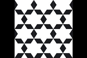 Seamless geometric black and white