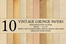 10 Vintage Grunge Paper Textures