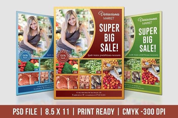 Supermarket Product Promotion Flyer Flyer Templates Creative Market