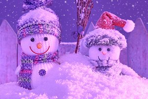 New Year 2016. Christmas.Snowmen fri
