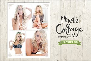 Photo Collage Template Gallery PSD
