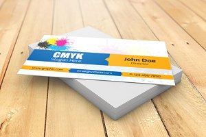 CMYK Visiting Card