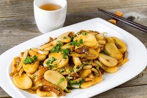 Sticky Rice Stir Fry Meal