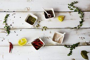 Spices and herbs selection