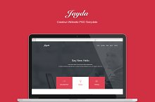 JAYDA - Creative One Page Template by  in Landing Pages