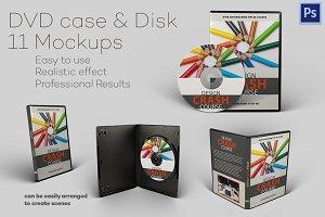 DVD case & Disk - 11 Mockups