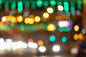 City lights blurred bokeh background