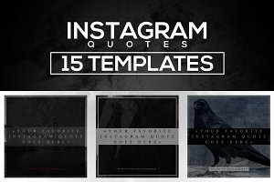 15 Instagram Templates vol.3: Quotes