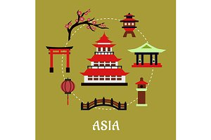 Japan architectural and cultural sym