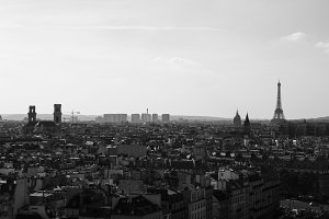 Paris Skyline with Eiffel Tower 1