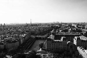 Paris with Seine and Eiffel Tower