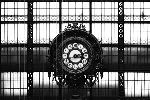 Musee d'Orsay Clock with Silhouette