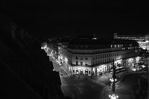 Opera District at Night in Paris 1