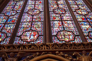 Stained Glass in Sainte Chapelle