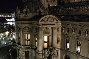 Opera in Paris at Night