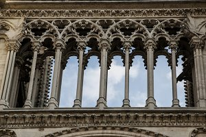 Gothic Columns at Notre Dame