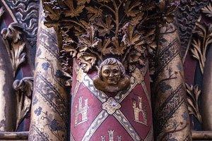 Details in Sainte Chapelle in Paris