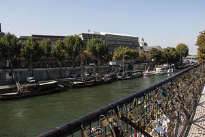 Bridge with Locks on the Seine