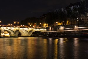 Boat on the Seine at Night
