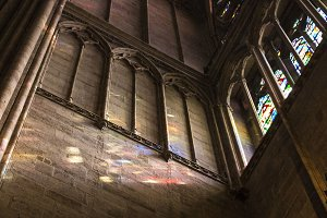 Stained Glass Reflection -Notre Dame