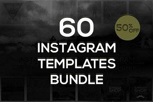60 Instagram Templates Bundle