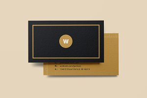 "Business Card - ""Classic Gold"""