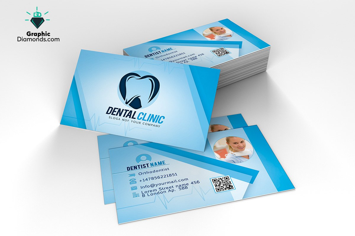 Dentist business card template business card templates creative dentist business card template business card templates creative market flashek Images