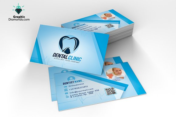 Dentist Business Card Template Cards