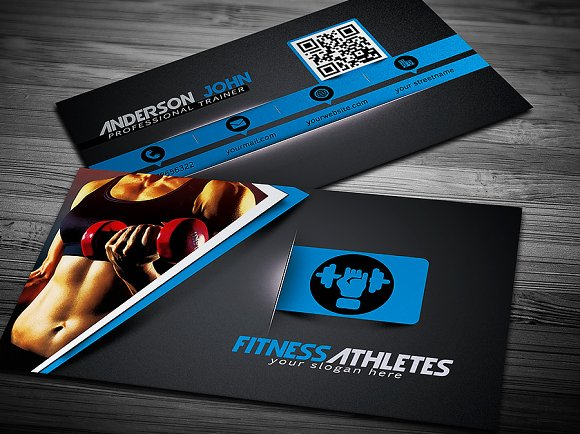 Gym Fitness Business Card Template Business Card Templates - Fitness business card template