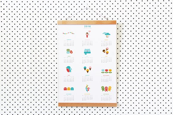 A3 Poster 2016 Calendar Bold Stationery Templates On