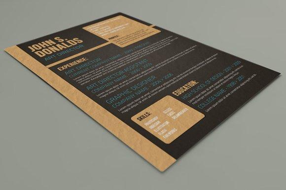 Craft Paper CV Design ~ Resume Templates ~ Creative Market. Creative Market - creative garden design