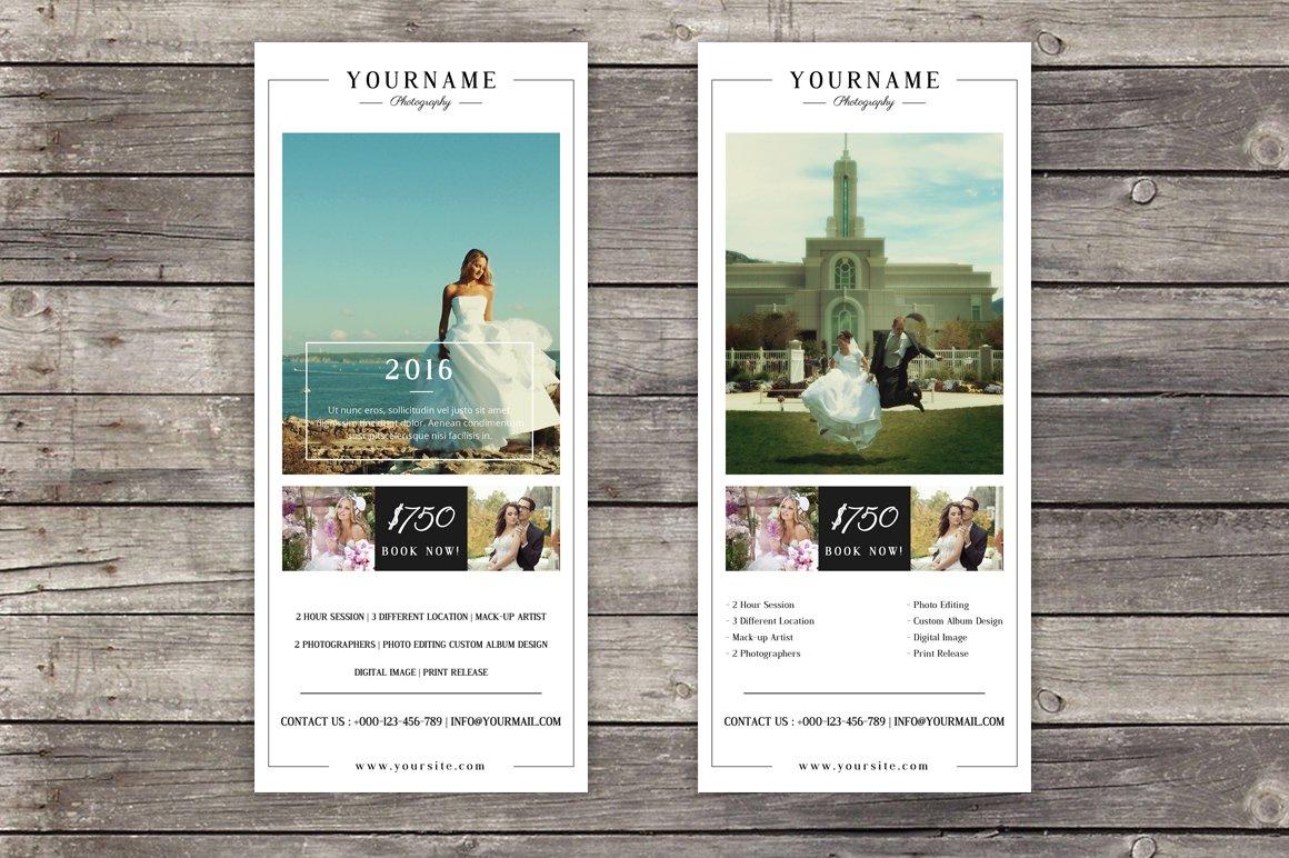 wedding photography rack card flyer templates creative market - Rack Cards