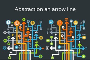 Abstraction an arrow line