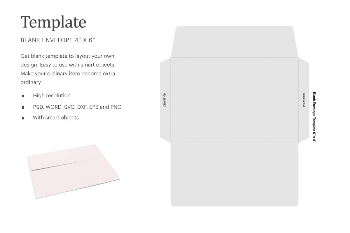 Blank Envelope Template Word from images.creativemarket.com