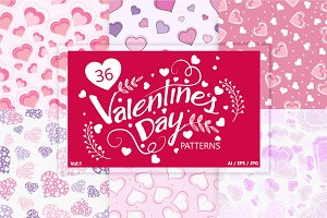 36 Valentine's Day Patterns - Vol 1