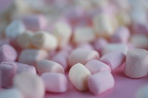 background with colored marshmallow