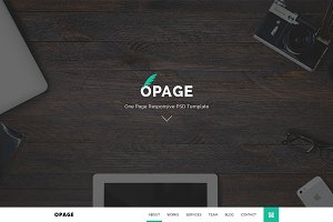 OPAGE - One Page Responsive Template