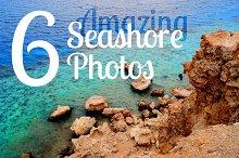 Beautiful Sea shore: 6 Photos Bundle